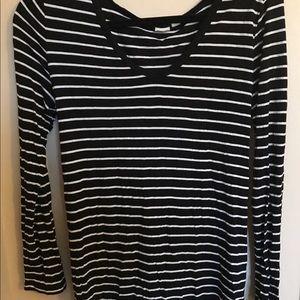 Black and white striped tunic 🙂
